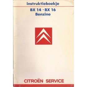 Citroen BX Instructieboekje   Benzine Fabrikant 86 met gebruikssporen   Nederlands