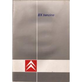 Citroen BX Instructieboekje   Benzine Fabrikant 88 met gebruikssporen vochtschade  Nederlands