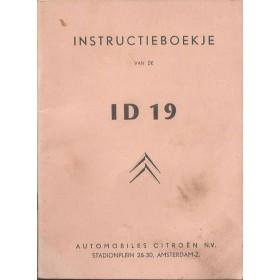 Citroen ID Instructieboekje   Benzine Fabrikant 59 ongebruikt   Nederlands