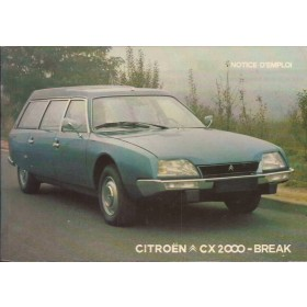 Citroen CX Break Instructieboekje   Benzine Fabrikant 75 ongebruikt   Frans