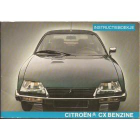 Citroen CX Instructieboekje   Benzine Fabrikant 79 met gebruikssporen   Nederlands