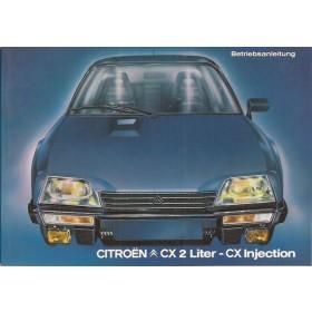 Citroen CX Instructieboekje   Benzine Fabrikant 83 ongebruikt   Duits