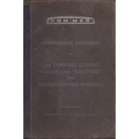 Commer Superpoise Instructieboekje   Benzine Fabrikant 50 met gebruikssporen eerste pagina ontbreekt, wel met dealerlijst  Engels