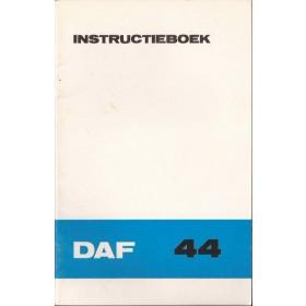 DAF 44 Instructieboekje   Benzine Fabrikant 72 ongebruikt   Nederlands