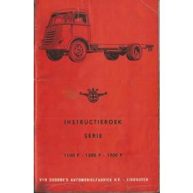 DAF vrachtwagen 1100P/1300P/1500P Instructieboekje   Diesel Fabrikant 60 met gebruikssporen achterkaft met spuitnevel  Nederlands