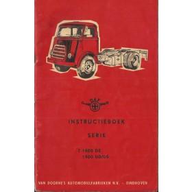 DAF vrachtwagen T1800 DS/1900 Instructieboekje   Diesel Fabrikant 64 met gebruikssporen   Nederlands