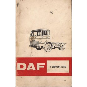 DAF vrachtwagen F1600DF/DTD Instructieboekje   Diesel Fabrikant 70 met gebruikssporen   Nederlands