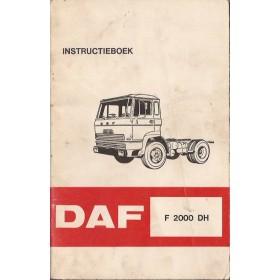 DAF vrachtwagen F2000 DH Instructieboekje   Diesel Fabrikant 72 met gebruikssporen   Nederlands
