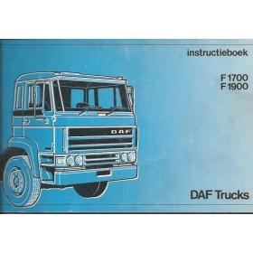 DAF vrachtwagen F1700/F1900 Instructieboekje   Diesel Fabrikant 87 met gebruikssporen   Nederlands