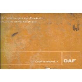 DAF vrachtwagen Onderhoudsboek blanco Onderhoudsboekje   Diesel Fabrikant 72 met gebruikssporen   Nederlands