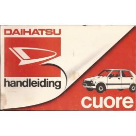 Daihatsu Cuore Instructieboekje   Benzine Fabrikant 84 met gebruikssporen   Nederlands