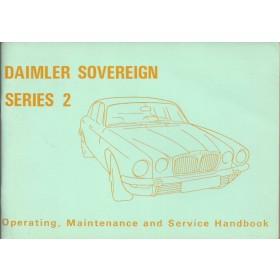 Daimler Sovereign serie 2 Instructieboekje   Benzine Fabrikant 73 ongebruikt   Engels