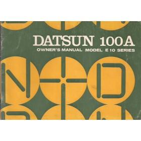 Datsun 100A Instructieboekje  model E10 Benzine Fabrikant 71 ongebruikt   Engels