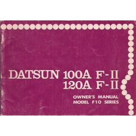 Datsun 100A/120A F-II Instructieboekje  model F10 Benzine Fabrikant 76 met gebruikssporen   Engels