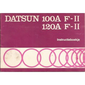 Datsun 100A/120A F-II Instructieboekje  model F10 Benzine Fabrikant 77 ongebruikt   Nederlands