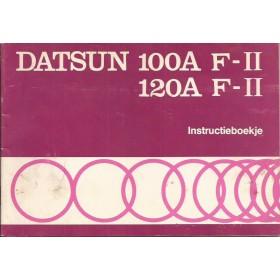 Datsun 100A/120A F-II Instructieboekje  model F10 Benzine Fabrikant 77 met gebruikssporen notities op achterkaft  Nederlands