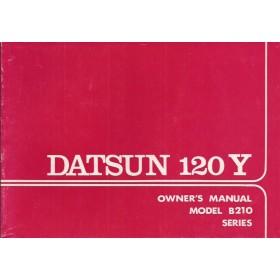Datsun 120Y Instructieboekje  model B210 Benzine Fabrikant 74 ongebruikt   Engels