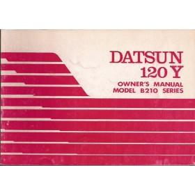Datsun 120Y Instructieboekje  model B210 Benzine Fabrikant 76 ongebruikt   Nederlands