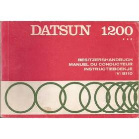 Datsun 1200 Instructieboekje  model B110 Benzine Fabrikant 70 met gebruikssporen   Nederlands/Duits/Frans