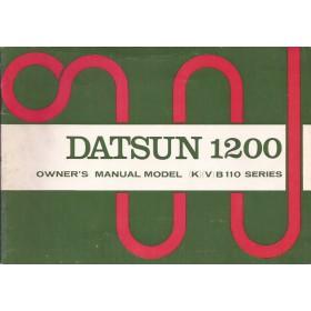 Datsun 1200 Instructieboekje  model B110 Benzine Fabrikant 72 ongebruikt   Engels