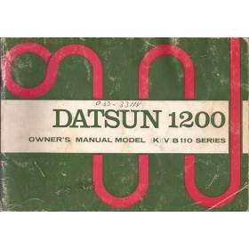 Datsun 1200 Instructieboekje  model B110 Benzine Fabrikant 72 met gebruikssporen   Engels