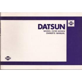 Datsun Laurel Instructieboekje  model C230 Benzine Fabrikant 79 ongebruikt in originele map  Engels