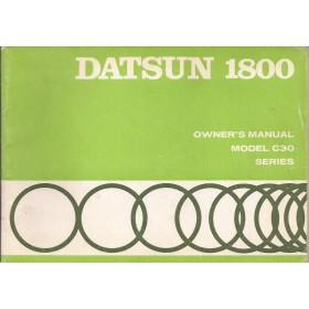 Datsun 1800 Instructieboekje  model C30 Benzine Fabrikant 71 ongebruikt   Engels