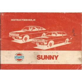 Datsun Sunny Instructieboekje   Benzine Fabrikant 79 met gebruikssporen lichte vochtschade  Nederlands