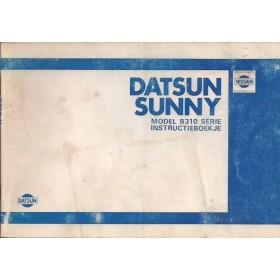 Datsun Sunny Instructieboekje  model B310 Benzine Fabrikant 80 met gebruikssporen   Nederlands