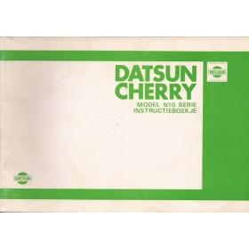 Datsun Sunny Instructieboekje  model N10 Benzine Fabrikant 79 ongebruikt   Nederlands