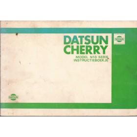 Datsun Sunny Instructieboekje  model N10 Benzine Fabrikant 80 met gebruikssporen   Nederlands