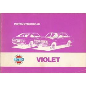 Datsun Violet Instructieboekje   Benzine Fabrikant 78 met gebruikssporen   Nederlands