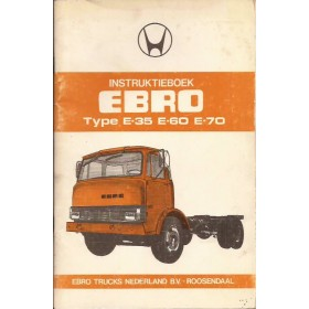 Ebro E35/E60/E70 Instructieboekje   Diesel Fabrikant 76 ongebruikt   Nederlands