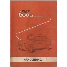 Fiat 600D Instructieboekje   Benzine Fabrikant 62 met gebruikssporen vochtschade, gescheurde pagina's  Nederlands