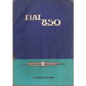 Fiat 850 Instructieboekje   Benzine Fabrikant 66 met gebruikssporen   Nederlands