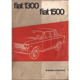 Fiat 1300/1500 Instructieboekje   Benzine Fabrikant 61 met gebruikssporen   Nederlands