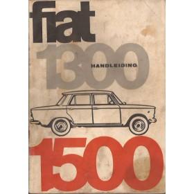 Fiat 1300/1500 Instructieboekje   Benzine Fabrikant 65 met gebruikssporen lichte vochtschade  Nederlands