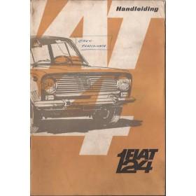 Fiat 124 Instructieboekje   Benzine Fabrikant 67 met gebruikssporen   Nederlands