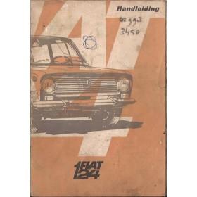 Fiat 124 Instructieboekje   Benzine Fabrikant 67 met gebruikssporen kaft los  Nederlands