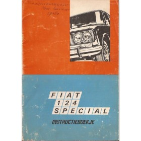 Fiat 124 Instructieboekje   Benzine Fabrikant 69 met gebruikssporen vette vingers  Nederlands