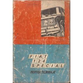 Fiat 124 Instructieboekje   Benzine Fabrikant 69 met gebruikssporen zonder achterkaft  Nederlands