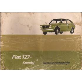 Fiat 127 Instructieboekje   Benzine Fabrikant 75 met gebruikssporen lichte vochtschade  Nederlands