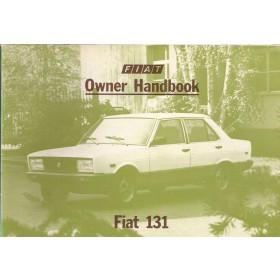 Fiat 131 Instructieboekje   Benzine Fabrikant 82 ongebruikt   Engels