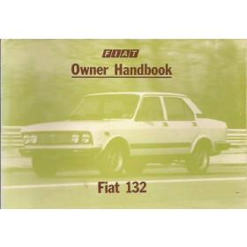 Fiat 132 Instructieboekje   Benzine Fabrikant 79 ongebruikt   Engels
