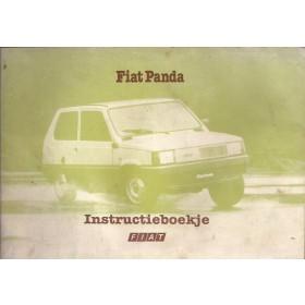 Fiat Panda Instructieboekje   Benzine Fabrikant 80 met gebruikssporen lichte vochtschade  Nederlands