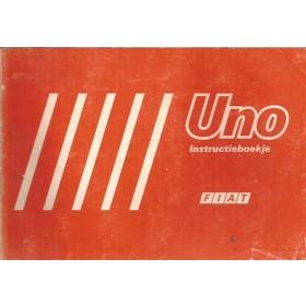 Fiat Uno Instructieboekje   Benzine Fabrikant 83 met gebruikssporen   Nederlands