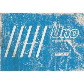 Fiat Uno Instructieboekje   Benzine/Diesel Fabrikant 87 met gebruikssporen licht beschadigde kaft  Nederlands