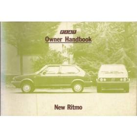 Fiat Ritmo Instructieboekje  Mk2 Benzine/Diesel Fabrikant 83 ongebruikt   Engels