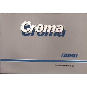 Fiat Croma Instructieboekje   Benzine/Diesel Fabrikant 86 met gebruikssporen   Nederlands