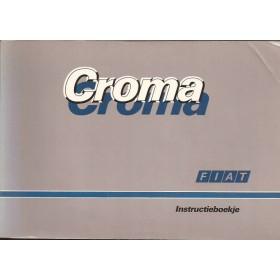 Fiat Croma Instructieboekje   Benzine/Diesel Fabrikant 88 met gebruikssporen   Nederlands